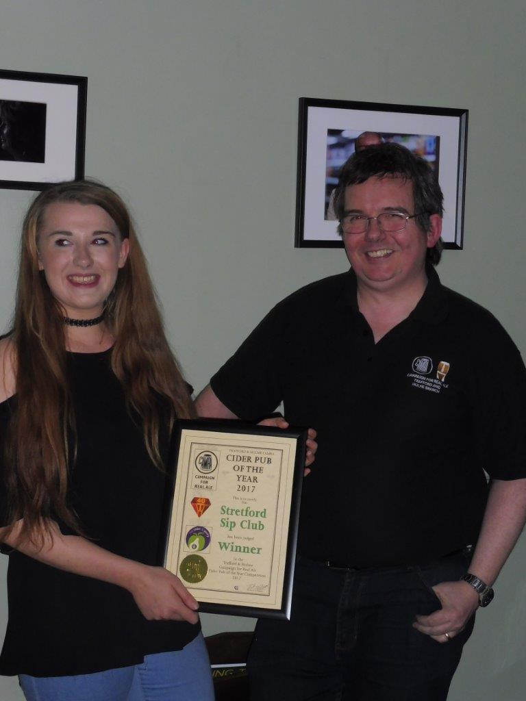 Cider Pub of the Year 2017  – Presentation Evening